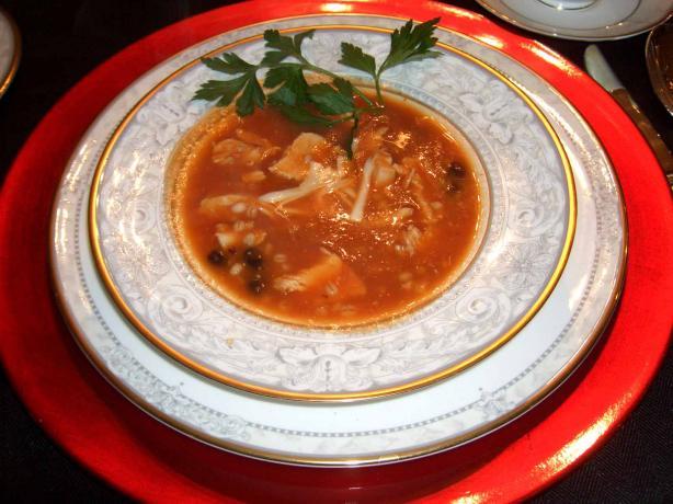 Southwestern Chicken Barley Tomato Soup