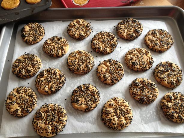 Black Sesame Seed Peanut Butter Cookies