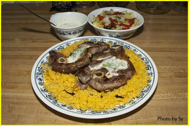 Lamb Chops With Horseradish Dill Cream