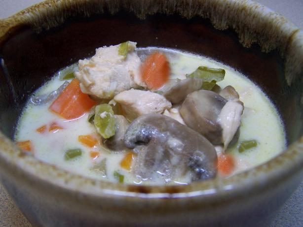 Uncanned Creamy Chicken Mushroom Soup