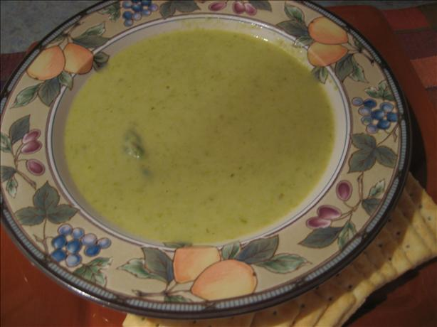 Asparagus (Or Broccoli) and Fontina Cheese Soup