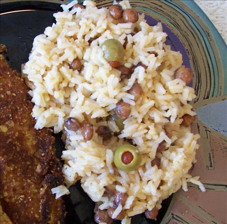 Spanish Rice and Pigeon Peas ( Arroz con Gandules)