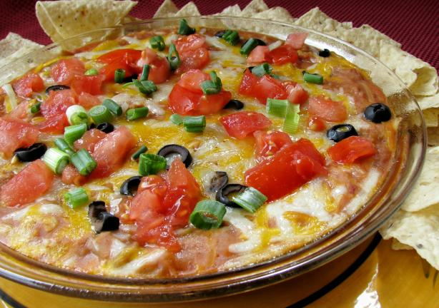 Mexican Mess (Bean Dip)