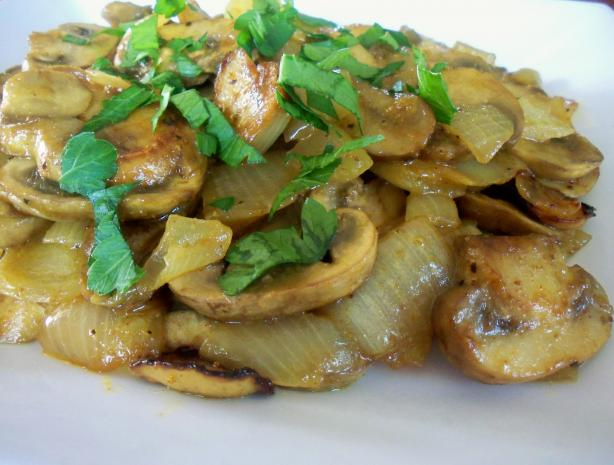Sauteed Curried Mushrooms