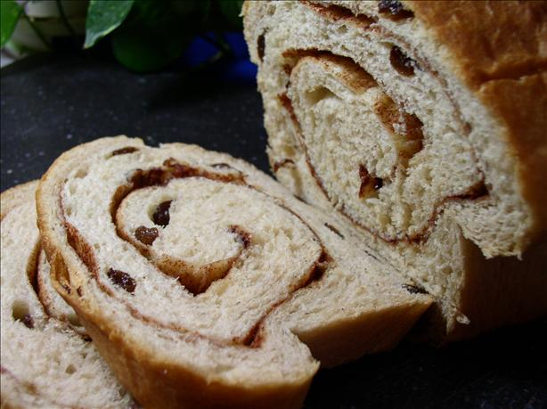 Amish Cinnamon Swirl Raisin Bread