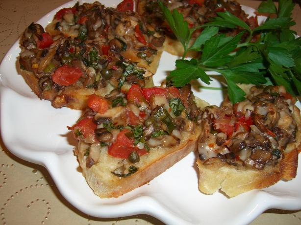 Mushroom & Parmigiano Bruschetta