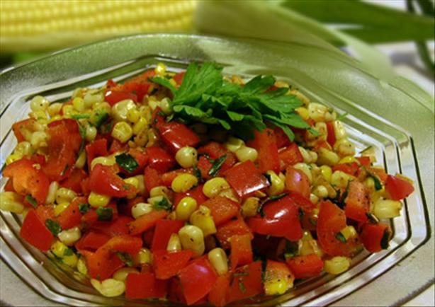 Corn and Red Pepper Medley