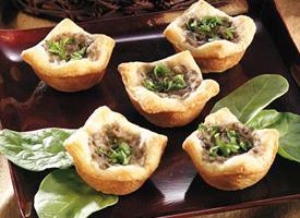 Mushroom Garlic Cream Tarts