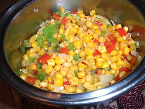 Corn With Chile Peppers