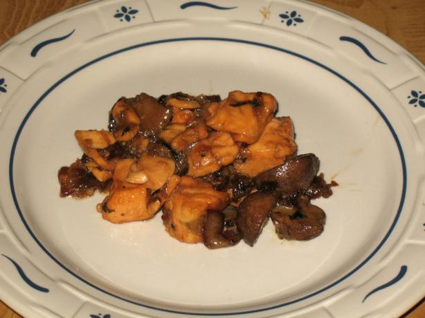 Acadia's Salmon Mushroom Stir Fry
