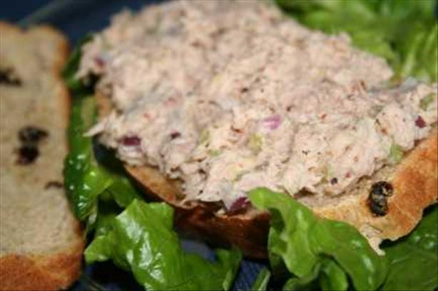 Tuna Salad Sandwich With Raisin Bread