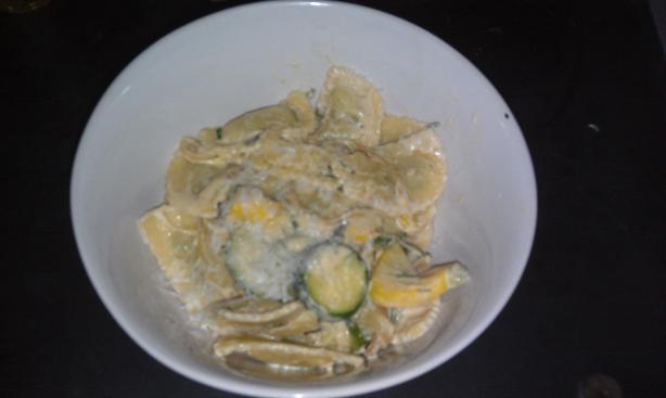 Creamy Ravioli With Squash, Lemon and Chives