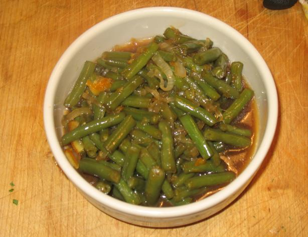 Orange-Soy Glazed Green Beans