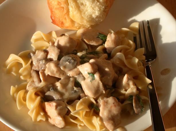 Easy Creamy Chicken With Mushrooms and Onions