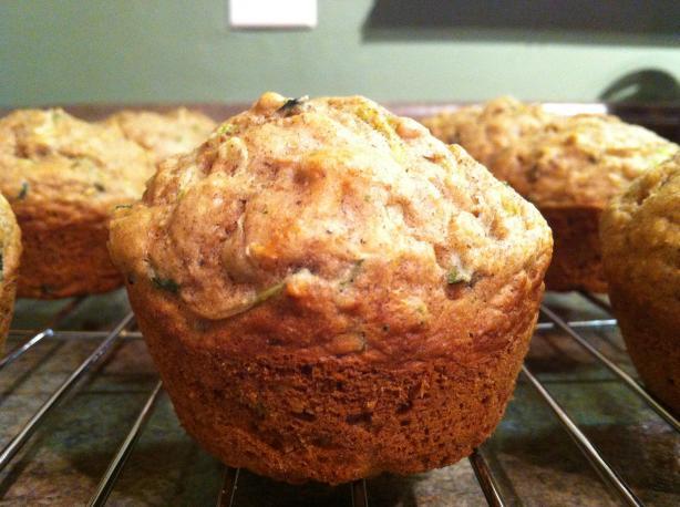 Healthy Zucchini Pecan Muffins
