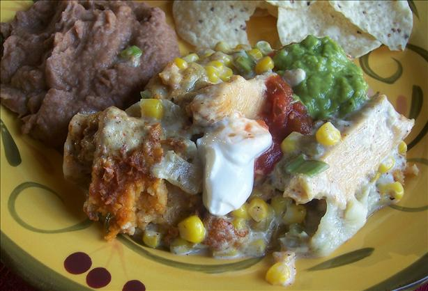 Corn and Green Chili Tamale Casserole