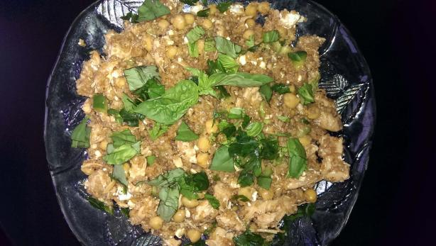 Bulgur Salad With Chickpeas, Feta, and Basil