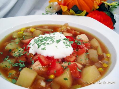 Green Chile, Chicken, and Corn Soup