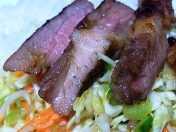 Char Siu Pork Cutlets With Chinese Coleslaw