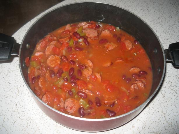 Spicy Sausage and Pepper Stew