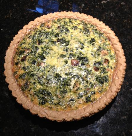 Easy Spinach and Mushroom Quiche