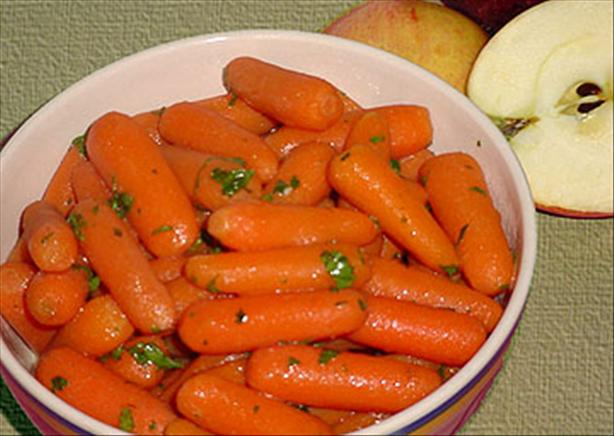 Carrots with an Apple Glaze