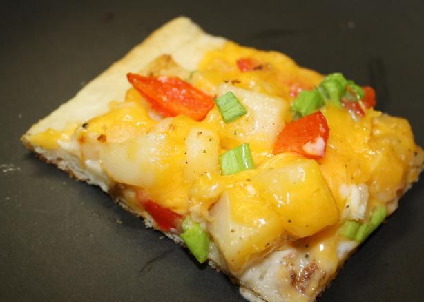 Three Cheese Rosemary Potato Pizza