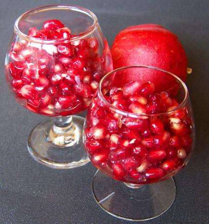 Pomegranates in Orange Flower Water
