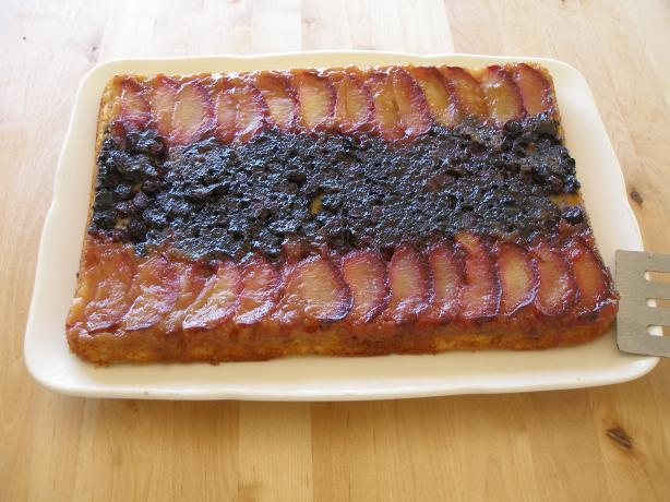 Plum Delicious Upside-Down Cake
