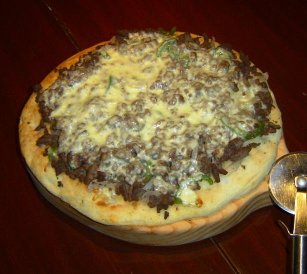 "Cheese "" Steak"" Pizza"