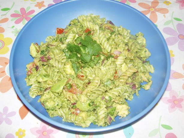 Pasta Salad With Avocado Dressing