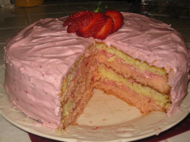 Strawberry Ribbon Cake