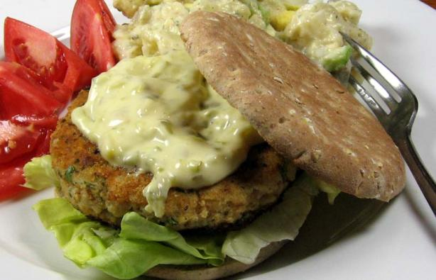 Fish Burgers With Fresh Herbs
