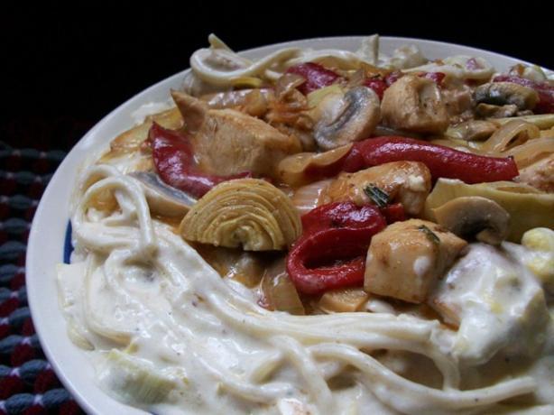 Chicken-Artichoke Pasta With Rosemary