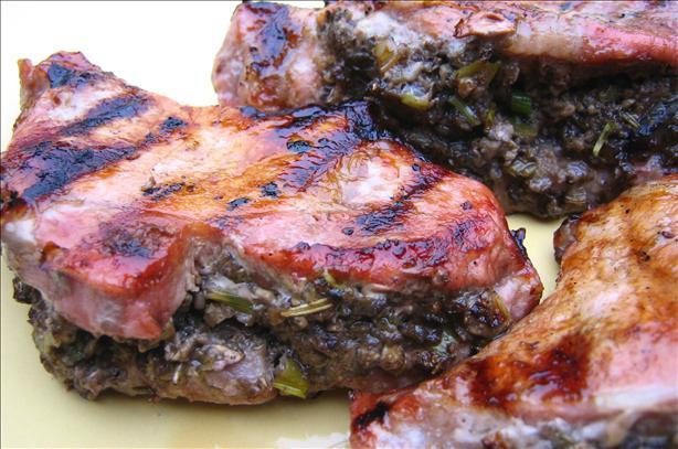 Pork Chops With Savory Mushroom Stuffing