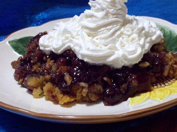 Crock Pot Blueberry Dump Cake