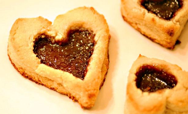 Valentines Day Linzer Heart Cookies