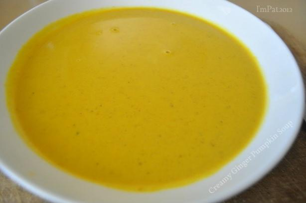 Creamy Ginger Pumpkin Soup