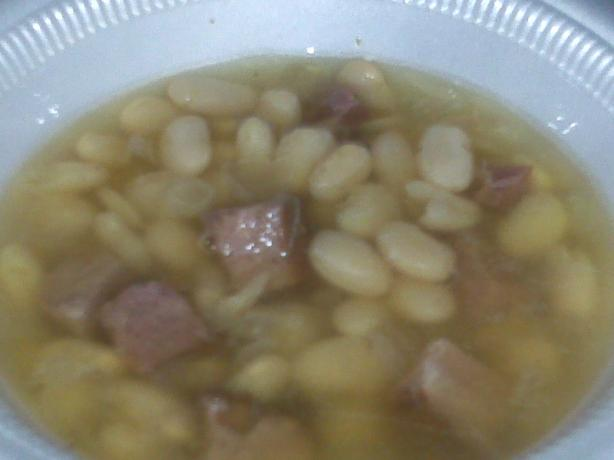 Navy Bean Soup in the Crock Pot