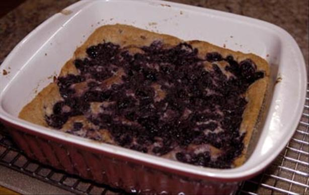 Chef Joey's Blueberry Pudding Cake (Vegan)