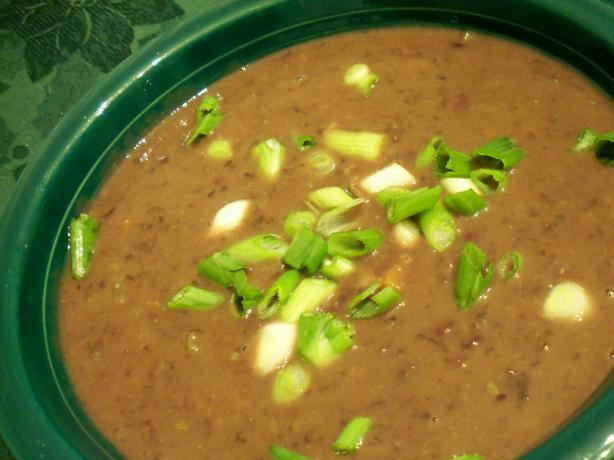 Black Bean Soup, Vegetarian