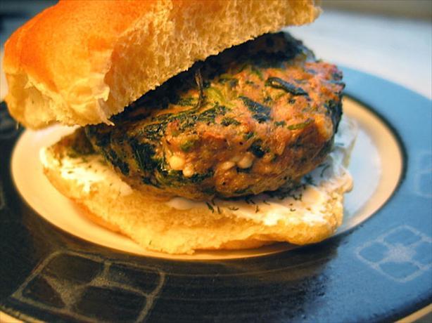 Spinach Feta Lamb Burgers