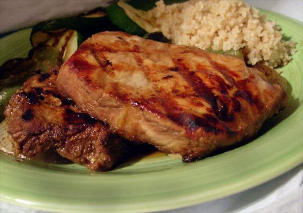 Teriyaki Grilled Pork Steaks