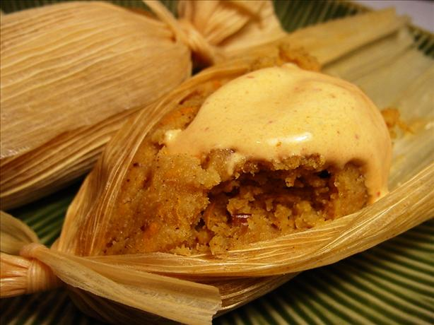 Sweet Tamales With Yams and Pecans