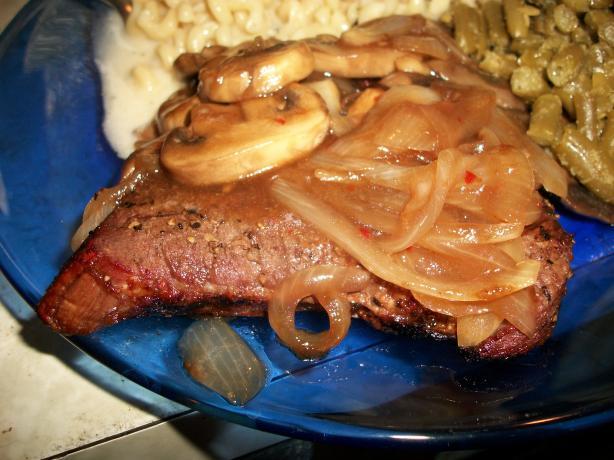 Grilled Steak With Teriyaki Mushrooms