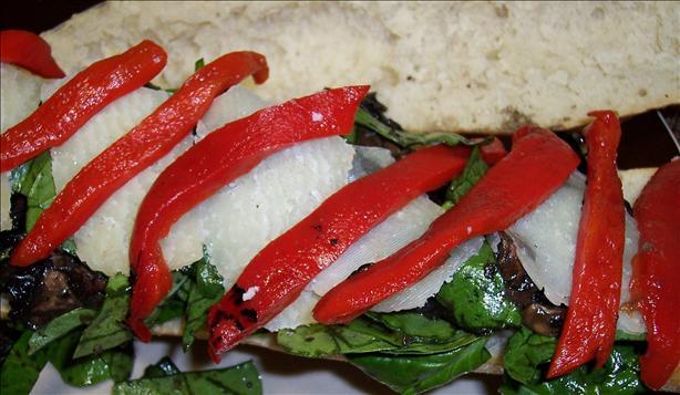 Grilled Mushroom Salad Sub