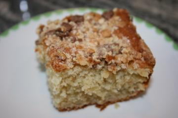 Sour Cream Banana Cake With Toffee Bar Topping