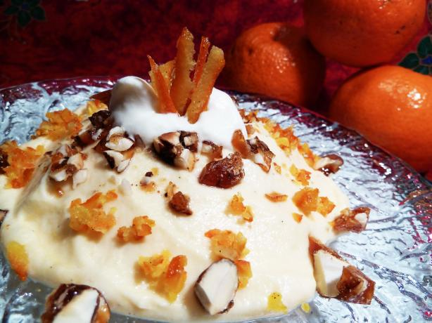 Tangerine Cream With Brittle Topping