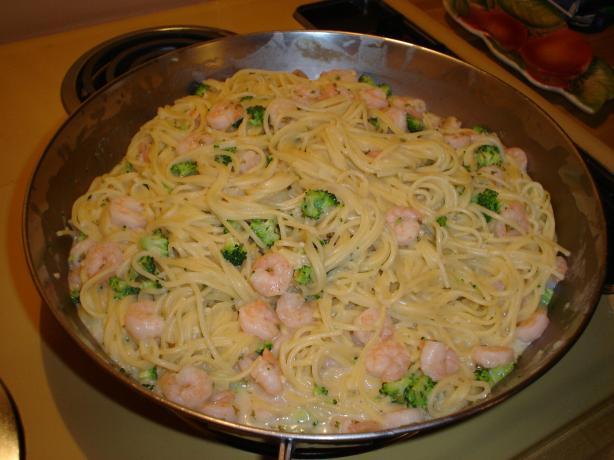 Creamed Shrimp and Spaghetti