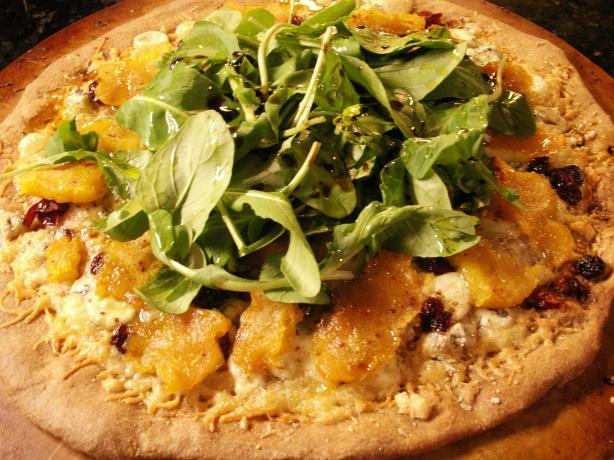 Acorn Squash and Arugula Pizza